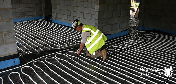 نصب سیستم گرمایش از کف