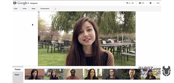 نرم افزار کلاس انلاین Google Hangouts