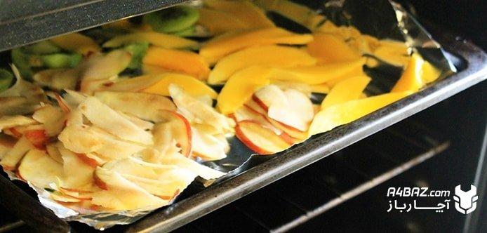 خشک کردن میوه با ماکروفر