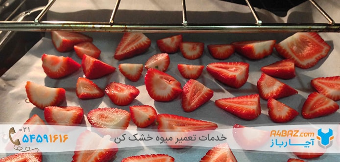 آموزش خشک کردن میوه با اون توستر