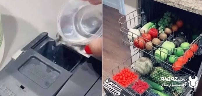 قرار دادن میوه در ماشین ظرفشویی