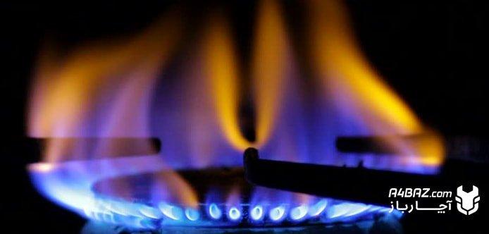 زرد سوختن شعله اجاق گاز