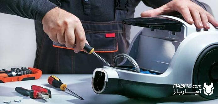 بررسی فن موتور جاروبرقی برای رفع بوی سوختگی