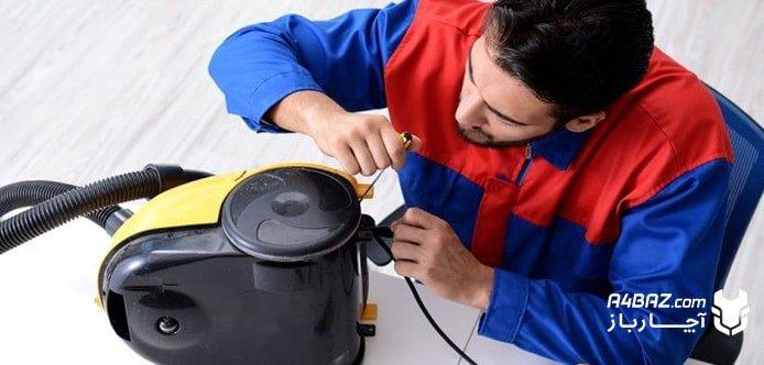 خرابی موتور و بوی سوختگی جاروبرقی