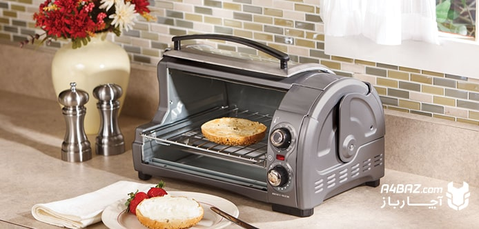 خرده ریزهای نان بر آون توستر