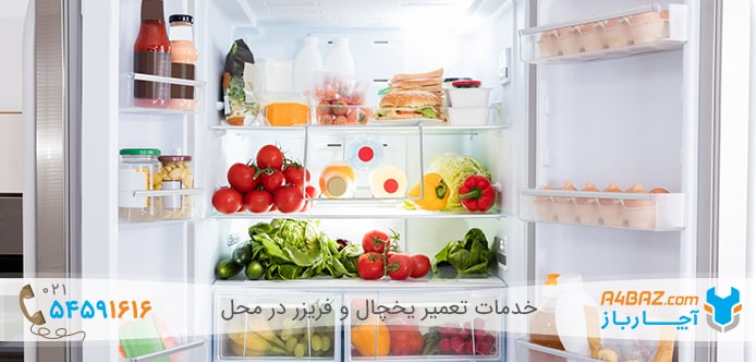 قرار دادن مواد غذایی متناسب با حجم یخچال