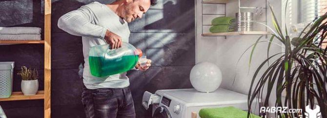 نحوه استفاده از جاپودری لباسشویی