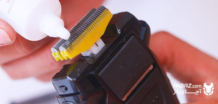 روغن کاری تیغههای ریش تراش