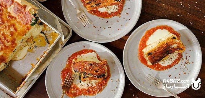 طرز تهیه لازانیا با انواع گوشت و پنیر، خوشمزه و مجلسی