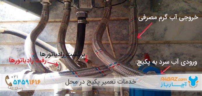 آموزش بستن شیر رادیاتور پکیج در تابستان