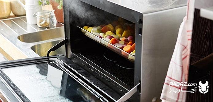 بخارپز کردن سبزیجات با سولاردام و مایکروویو