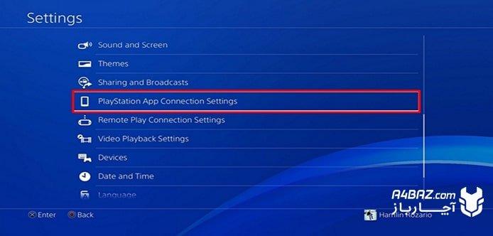 نصب گوشی به PS4