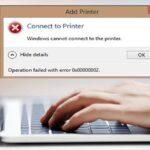 رفع پیغام خطای Windows cannot connect to the printer