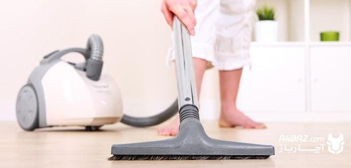 تمیز کردن جاروبرقی